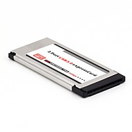 Express Card 34mm 2 porttia USB3.0 ikkunat yhteensopiva läppäri