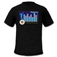 geluid en muziek geactiveerd spectrum vu meter el Visualizer t-shirt (2 * aaa)