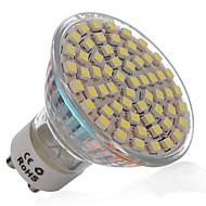 gu10 3w 60x3528smd 270lm luz branca frio / quente levou bulbo local (110-130v)