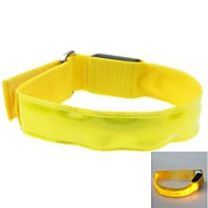 couleur de LED de bracelet de bras en treillis brassard jaune (2xcr2032)