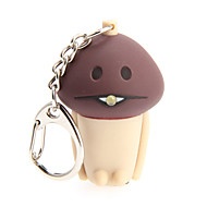 LED Lighting / Key Chain Mushroom Cartoon Key Chain / LED Lighting / Sound Khaki ABS / Plastic