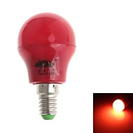 Zweihnde E14 3 W 8 SMD 280-300 LM Red G Decorative Globe Bulbs AC 100-240 V