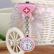Mulheres Relógio de Moda Quartz Lega Banda Doce Prata marca-
