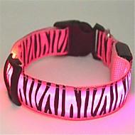 blikání zebra styl vedl obojek (různé velikosti, barvy)