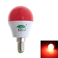 Zweihnde E14 3 W 8 SMD 280-300 LM Red G Decorative Globe Bulbs AC 100-240 V