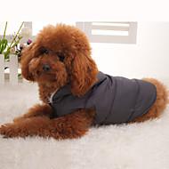 犬用 カジュアル キルティング コート フード付(XS-XL)