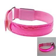 LED-Lichtfarbe Gitter Armband Armband Armband pink (2xCR2032)