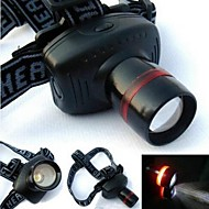 Headlamps 1 Mode Lumens Adjustable Focus AAA Camping/Hiking/Caving / Cycling / Fishing - Others , Black Plastic