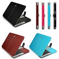 "coosbo® επιχειρήσεων έξυπνη θήκη pu μαλακή δερμάτινη θήκη περίπτωση κάλυψη για 13 ""15"" macbook pro (διάφορα χρώματα)"