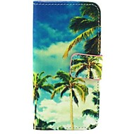 Blue Sky Pattern PU Leather Full Body Case with Stand for Samsung S4 I9500