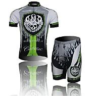 crânio oeste biking® manga curta mountain bike roupas terno bicyle mtb conjunto jersey ciclismo shorts para homens