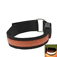 LED Light Arm Band Strap Armband Orange  (2xCR2032)