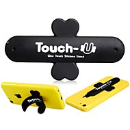 Touch-U Magic Sticker Cross Shaped Silicone Phone Stand Holder(Assorted Colors)