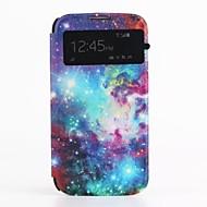 oljemålning mönster pu läder skal med kortplats Skal till Samsung Galaxy s4 i9500