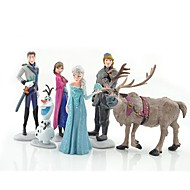Olaf Snowman Ann Elas Princess Toys Dolls (6pcs / lot)
