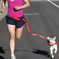 Hundar Handsfree Koppel Justerbara/Infällbar Löpning Hands free Solid Röd Vit Grön Rosa Purpur Nylon