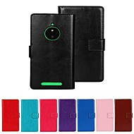 Wallet Style Solid Color PU Leather Full Body Case with Stand and Card Slot for Nokia Lumia 830 (Assorted Colors)