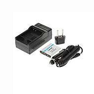 ismartdigi-sony np-bk1 (1000mAh, 3.6V) camera accu + eu stekker + autolader voor Sony W180 W190 S980 S950