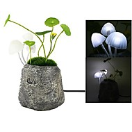 Creative Dream Mushroom Resin Version Energy Saving Design Light Control Induction LED Night Light