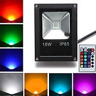 10W LED-lyskastere 1 Høyeffekts-LED 800 lm RGB Fjernstyrt AC 85-265 V