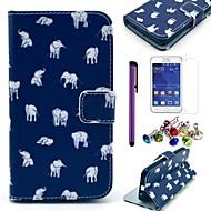 Για με βάση στήριξης / Ανοιγόμενη / Με σχέδια tok Πλήρης κάλυψη tok Ελέφαντας Σκληρή Συνθετικό δέρμα Samsung Core 2