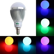 5W E14 Lampadine globo LED A60(A19) 1 Capsula LED 350-400 lm Colori primari Intensità regolabile / Controllo a distanza / DecorativoAC