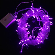 Lámpara de la luz de tira de luz púrpura 9.6W 10m navidad destello 100 liderada por (enchufe de la UE, ac 220v)