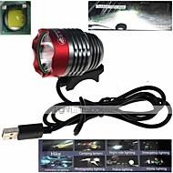 zhishunjia водонепроницаемый 3-режим 1xcree XM-L2 U2 высокой мощности велосипед лампа (900lm, USB 5V, серый + красный)