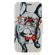For Nokia Case Card Holder / Flip Case Full Body Case Dog Hard PU Leather Nokia Nokia Lumia 630