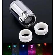 rc-f08 מסוגנן אור זוהר זרם מים צבעוני הוביל רז אור (פלסטיק, גימור כרום)
