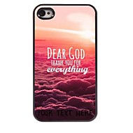 Personalized Phone Case - Dear God Design Metal Case for iPhone 4/4S