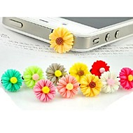 Chrysanthemum Transparent Bottom  Anti-dust Earphone Jack for iPhone/iPad and Others(Random Color)