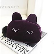 multifunctionele cartoon kat vormige wol cosmetica opbergtas
