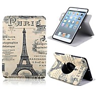Pretty Eiffel Tower Pattern PU Leather Full Body Case with Card Slot and Stand for Apple iPad Mini 1/2/3