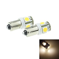 BA9S (T4W W6W)2.5W 5X5054SMD 160-180LM 3000-3500K Warm White Light for Car Lndicator (DC12-16V)