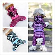 chaqueta de esquí con estilo con capucha para perros mascotas (colores variados y de diferentes tamaños)