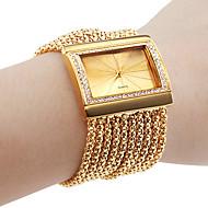 henkilökohtainen muodikasta naisten kello rannekoru kulta timantti tapauksessa metalliseos bändi