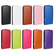 flip-abierto grano caballo cuero de la PU caso de cuerpo completo para HTC UNO X (colores surtidos)