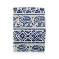 Elephant Pattern 360 Degree Rotation PU Leather Full Body Case with Stand for iPad Air 2