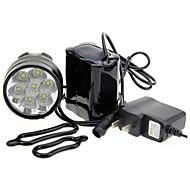 Eclairage de Velo , Eclairage Avant de Vélo / Lampes frontales / Eclairage de bicyclette/Eclairage vélo - 3 Mode 7000 Lumens Rechargeable