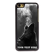 Personalized Phone Case - The Wolf Blowing Smoke Design Metal Case for iPhone 5C