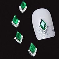 10szt 3d zielony markizy akcesoria aluminiowe podłubać Rhinestone sztuka dekoracji paznokci