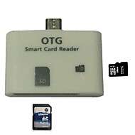 2in1 USB OTG liitinosilla adapteri SD TF kortinlukija Samsung Galaxy
