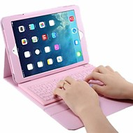 For Case Cover with Stand with Keyboard Flip Full Body Case Solid Color Hard PU Leather for iPad Air 2 iPad Air