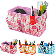 Folding Quadrate Cosmetics Storage Stand Box Makeup Brush Pot Cosmetic Organizer(3 Color to Choose)