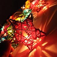 jiawen® 4m 20leds rgb led pentagram gevormde snaar licht kerst snaar licht voor decoratie (ac 110-220v)