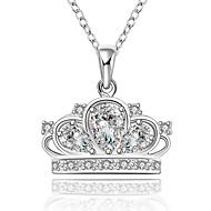 Dame Kvadratisk Zirconium Rhinsten Enlig Snor Rund form Sølv kostume smykker Smykker Til