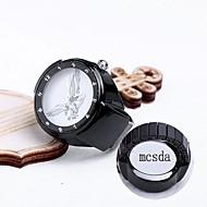 presente personalizado do relógio anel de liga de jóias gravado