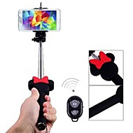 1 M Extendable Telescopic Bowknot Mobile Phone and Bluetooth Remote Shutter Holder for Samsung(Assorted Colors)