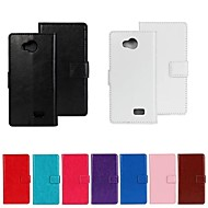 Solid Color PU Leather Full Body Protective Case for LG F60 (Assorted Colors)